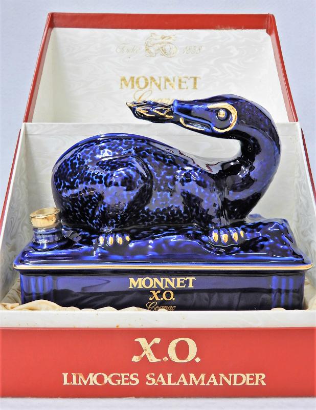 MONNET モネ XO サラマンダー 青 陶器ボトル  買取させていただきました。