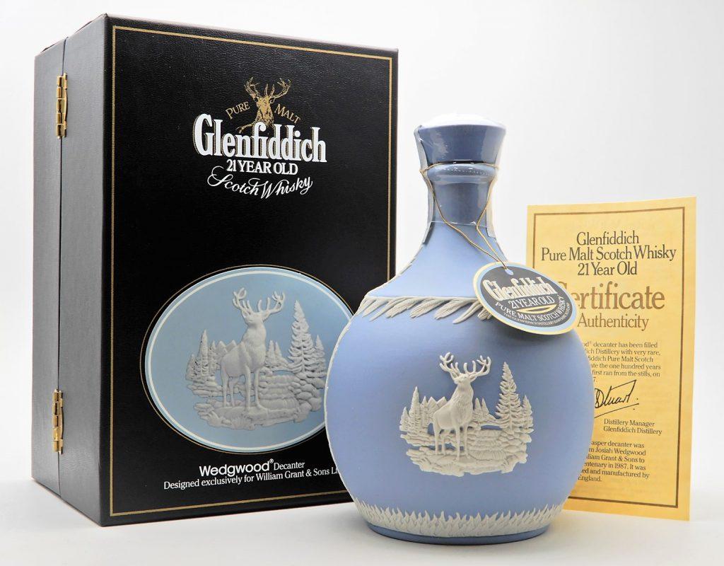 ★Glenfiddich グレンフィディック 21年 ピュアモルト スコッチ ウイスキー  ウェッジウッド 陶器ボトル★