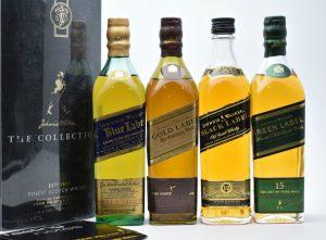 ★ジョニーウォーカー コレクション 4本 ブルー ブラック グリーン ゴールド 200ml スコッチ ウイスキーをお買取り★